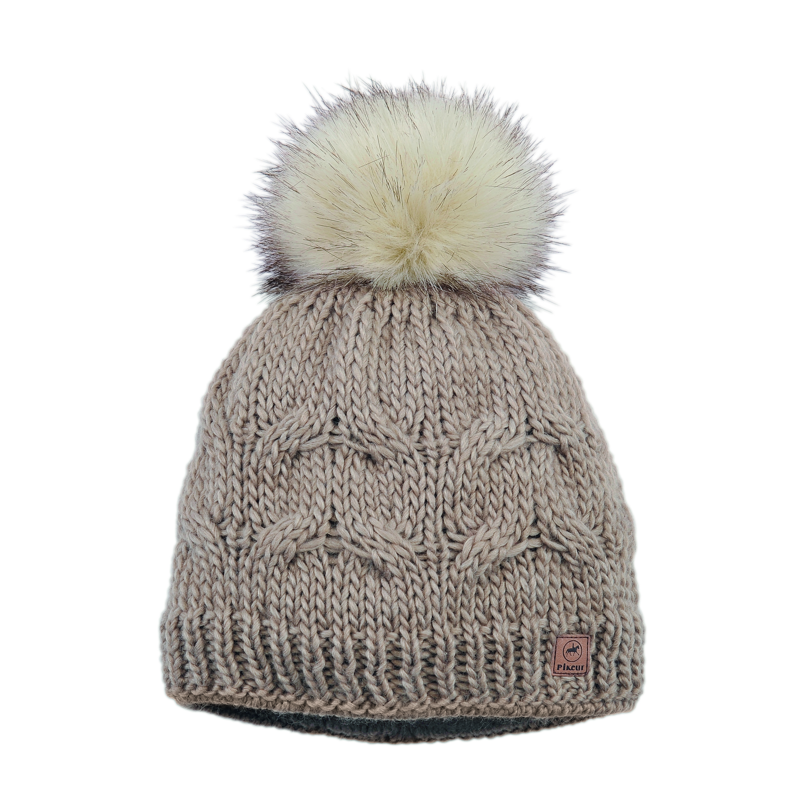 1a120e22bf7 ... reduced horseware girls bobble hat pikeur knitted bobble hat faux fur  pom pom ladies rb equestrian ...